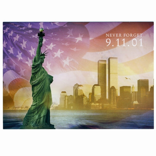 Twin Towers at Sunrise Postcard -  Gifts at the 9/11 Tribute Museum