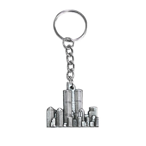 Twin Towers Pewter Keychain -  Gifts at the 9/11 Tribute Museum