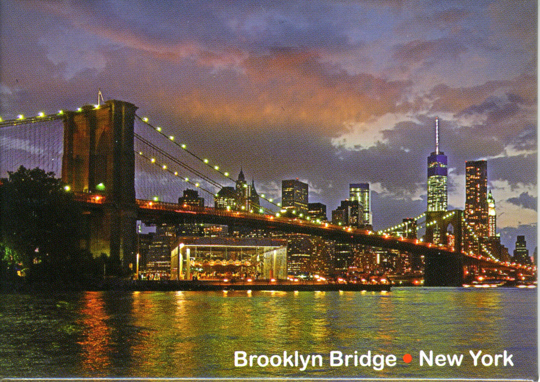 Brooklyn Bridge at Night Magnet -  Gifts at the 9/11 Tribute Museum