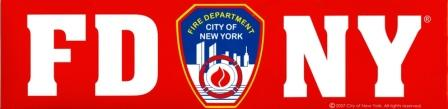 FDNY Bumper Sticker -  Gifts at the 9/11 Tribute Museum