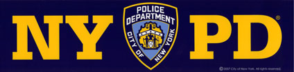 NYPD Bumper Sticker -  Gifts at the 9/11 Tribute Museum