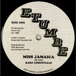 "12"" BARE ESSENTIALS - Miss Jamaica / Different Size - TRS Records"