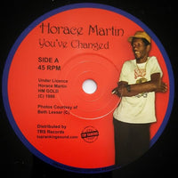 "7"" HORACE MARTIN - You've Changed - TRS Records"