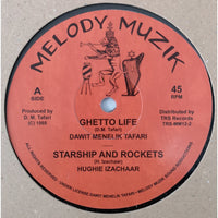 "12"" DAWIT MENELIK TAFARI / HUGHIE IZACHAAR - Ghetto Life / Starship And Rockets / Peace And Love - TRS Records"