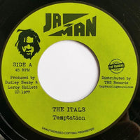 "7"" THE ITALS - Temptation - TRS Records"