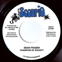 "MICHAEL PALMER / DEAN FRASER - My Region / Champion Of Society (7"")"