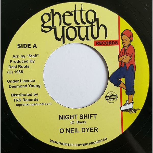 "7"" O'NEIL DYER - Night Shift - TRS Records"