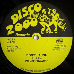 "10"" PRINCE EDWARDS - Don't Laugh - TRS Records"