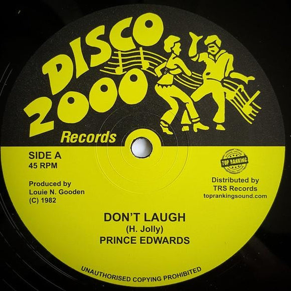PRINCE EDWARDS - Don't Laugh - TRS Records