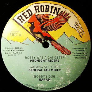 "12"" MIDNITE RIDERS / JAH MIKEY GENERAL - Bobby Was A Gangster / Ravers Party - TRS Records"