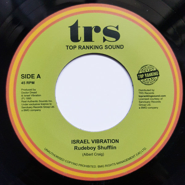 "ISRAEL VIBRATION - Rudeboy Shufflin (7"")"