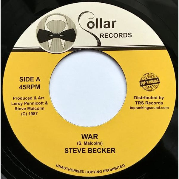 "7"" STEVE BECKER - War - TRS Records"