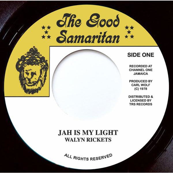 "WALYN RICKETS - Jah Is My Light (7"")"