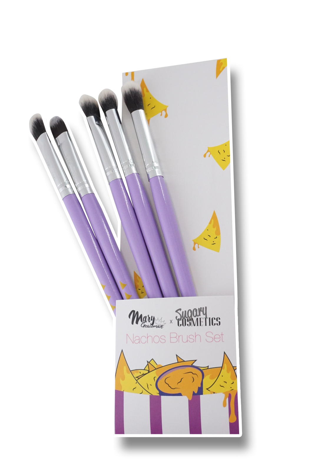 NACHOS MAKEUP BRUSH SET - 5PC | MARY GEACOMAN X SUGARY COSMETICS MOVIE NIGHT COLLECTION