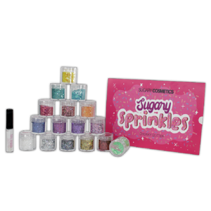 SUGARY SPRINKLES CHUNKY GLITTER KIT + GLUE