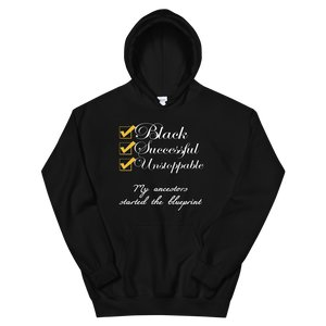 Black & Successful Hoodie - A.D. Vibez LLC