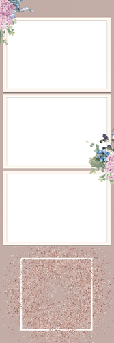 Creme & Flowers 3photos template