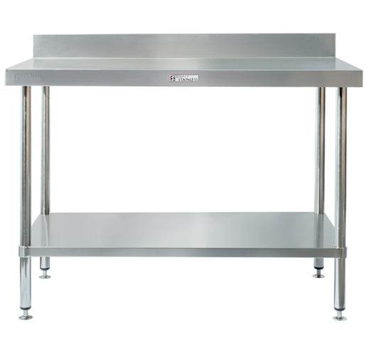 Stainless Steel Workbench with Splashback