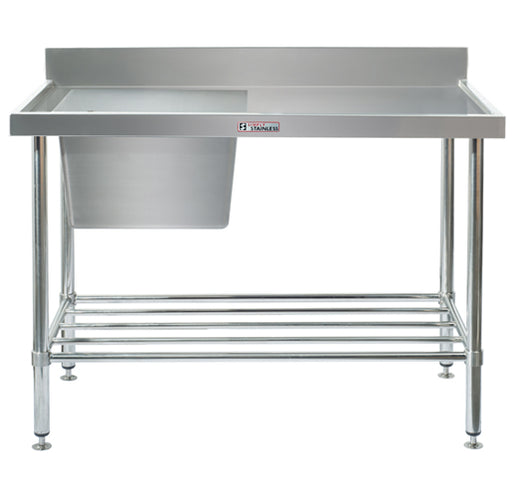 Stainless Steel Sink Bench with Splashback