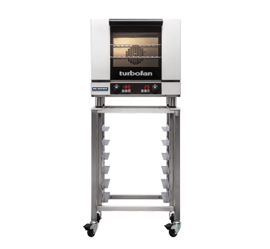 E23D3 and SK23 Stand - Half Size Tray Digital Electric Convection Oven on a Stainless Steel Stand
