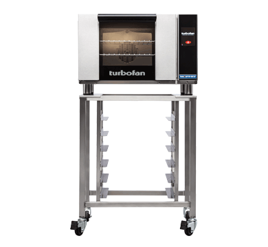 E23T3 - Half Size Electric Convection Oven Touch Screen Control on a Stainless Steel Stand