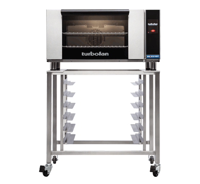 E27T2 - Full Size Electric Convection Oven Touch Screen Control on a Stainless Steel Stand