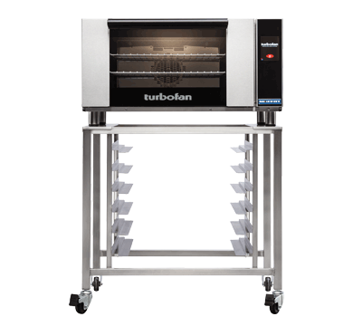 E27T3 - Full Size Electric Convection Oven Touch Screen Control on a Stainless Steel Stand