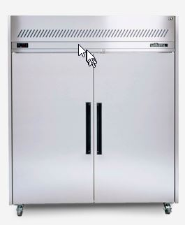 Sapphire Gastronorm Upright Freezer Cabinet Stainless Steel