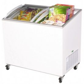 Chest Freezers with Curved Glass Lid