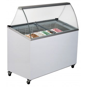 Sliding Glass Gelato Freezer  - 1298mm