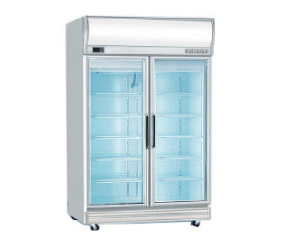 Upright Glass Double Door Chiller