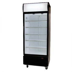 Upright Glass Door Chillers with LED lighting