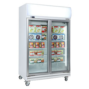 Upright Flat Glass Door Freezers