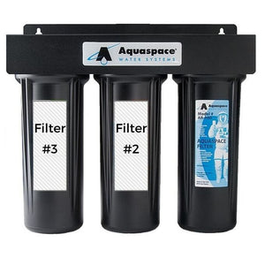 AQUARIUS TRIPLE PLUS Under the Sink Water Filter Custom Black