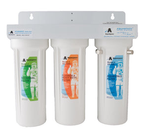 AQUARIUS TRIPLE PLUS™ with Fluoride-Heavy Metal, Microbial Reduction & Hydrating Magnets - Under the Sink Filter : AQ-135F/AT (or AQ-135F/AT-U)