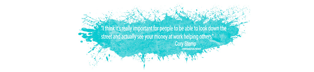 Cory Stemp Owner Quote about Charity Partnerships