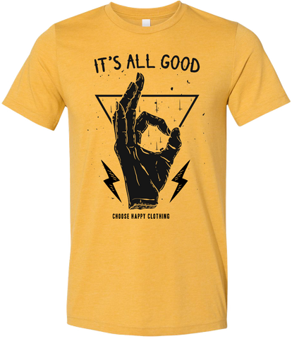 It's All Good Heather Mustard Tee