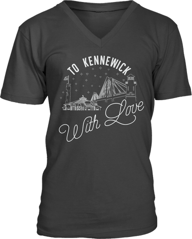 To Kennewick With Love V Neck Tee