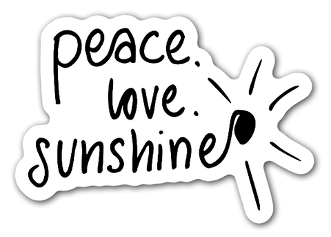 Peace Love Sunshine Sticker