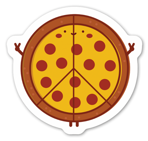 Peace of Pizza Sticker | Choose Happy Clothing