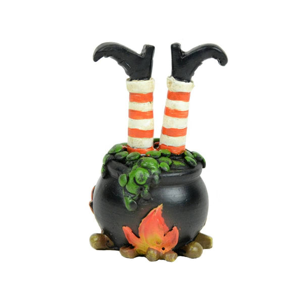Witch Legs in Cauldron, Halloween Miniature, Whimsical Halloween Decor,  Witch's Brew