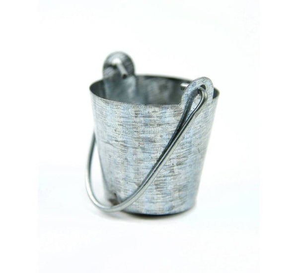 Metal Bucket with Movable Handle,  Water Bucket, Garden Pail, Tin Bucket, Well Bucket, Cake Topper