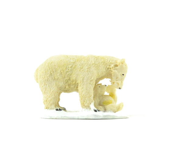 Miniature Polar Bear and Cub,  Miniature Polar Animal,  Winter Miniature, Gift for Bear Collector
