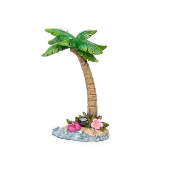 Beach Fairy Palm Tree,  Tropical Island Tree,  Beach Fairy Garden Accessory, Tiki Bar Accessory, Garden Party Decor, Tropical Cake Topper