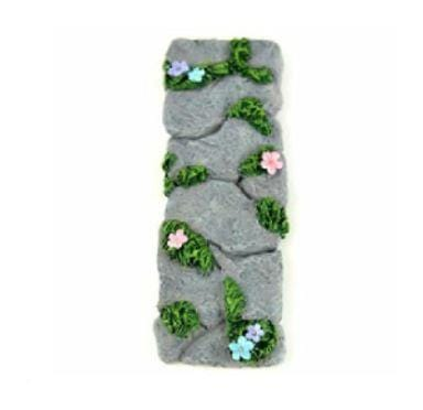 Gray Stone and Flower Path,  Fairy Garden Path, Fairy Garden Accessory,  Fairy Garden Landscaping, Terrarium  Walkway