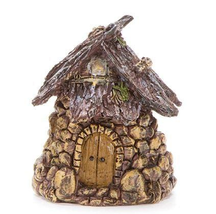 Fairy Hut with Stone Walls, Fairy Garden Miniature House, Treehouse for Gnomes, fairies and Pixies