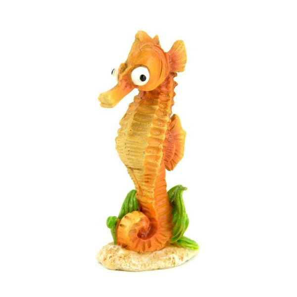 Seahorse Miniature,  Ocean Animal, Orange Seahorse, Beach Fairy Garden Accessory