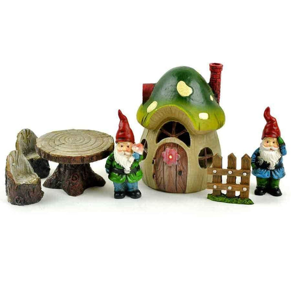 Gnome  Fairy Garden Kit, Mushroom House  Fairy Garden, Birthday/Holiday Gift