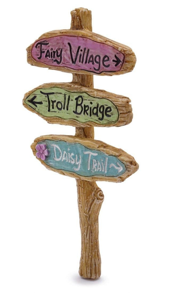 Fairy Village Sign, Troll bridge sign, Miniature Fairy Sign, Fairy Garden Sign