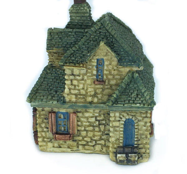 "Micro Gable's Cottage , 2"" Green Roof Stone Fairy Garden House, Terrarium House, Zen Fairy Garden Miniature"